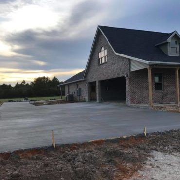 new construction drive way and walkway